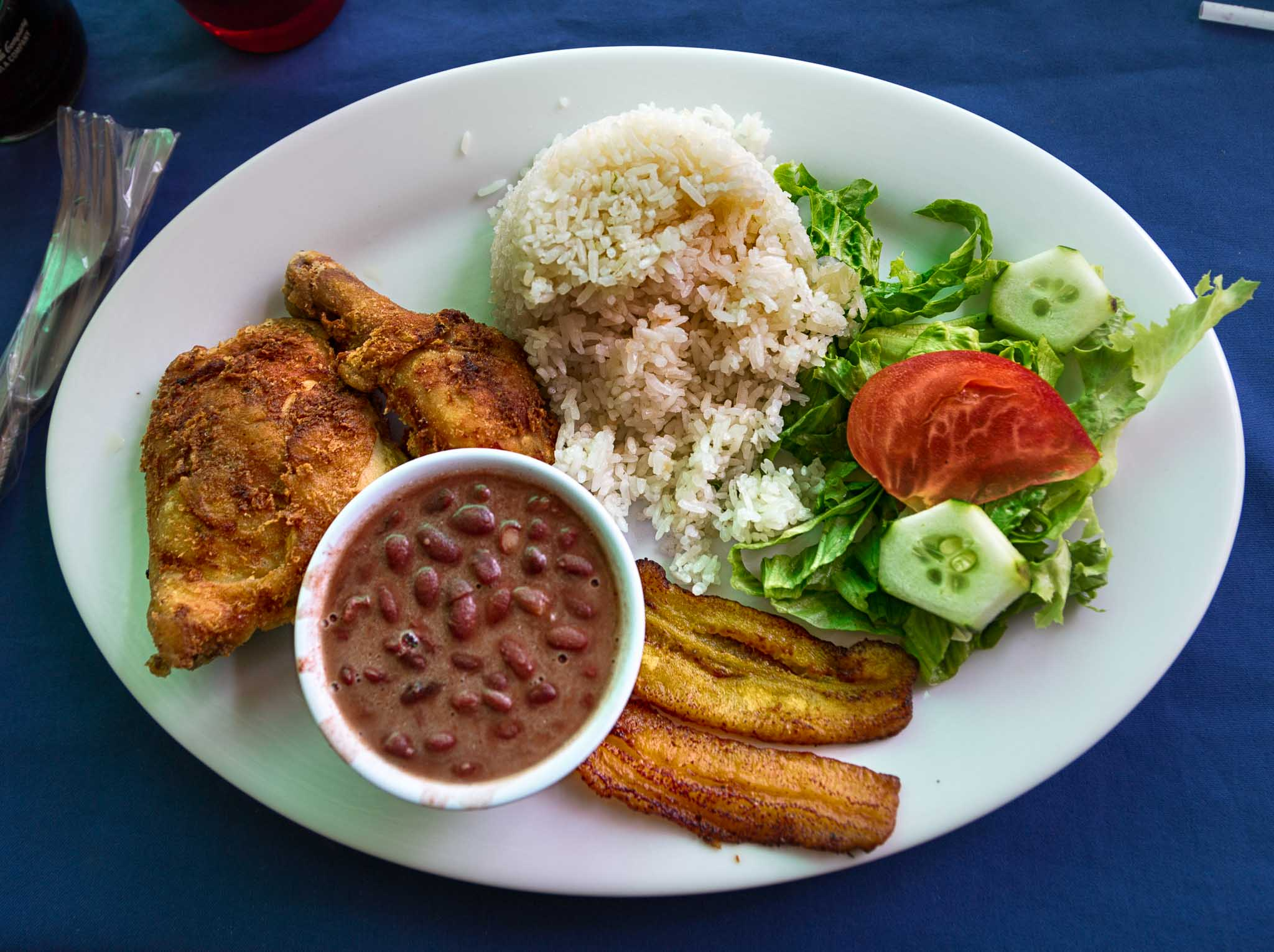 Costa rican meal by the sea costa rica cost of living update fried chicken casado by the sea 5 forumfinder Choice Image